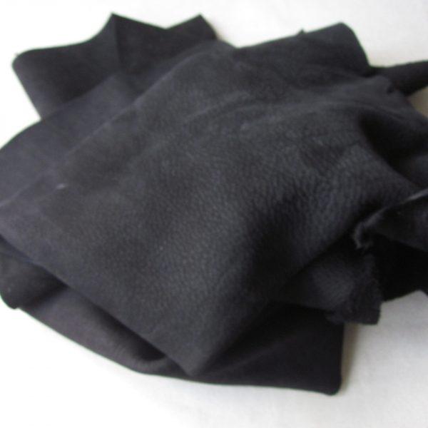 Chute de cuir nubuck Noir
