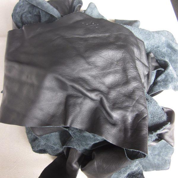Chute de cuir pleine fleur noir