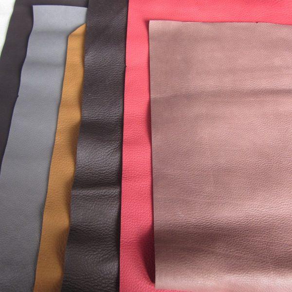 Chute de cuir épais et souple coloris divers