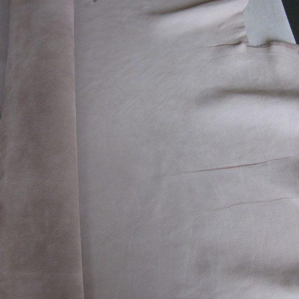 Grande chute de cuir pleine fleur nubuck beige