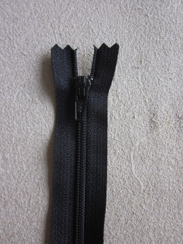 Fermetures éclair nylon noir