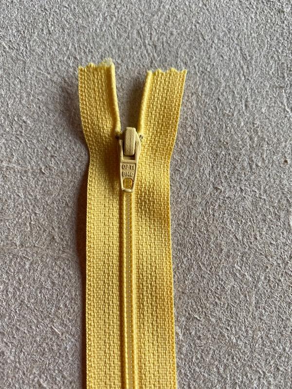 Fermeture éclair nylon jaune