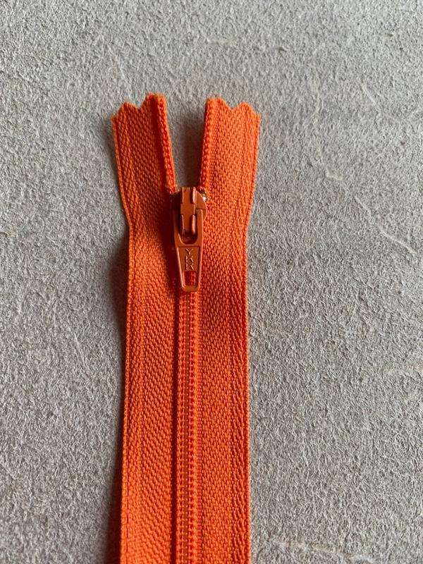 Fermeture éclair nylon orange