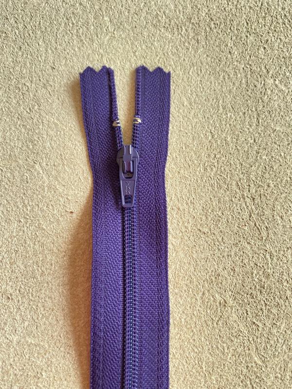 Fermeture éclair nylon violet