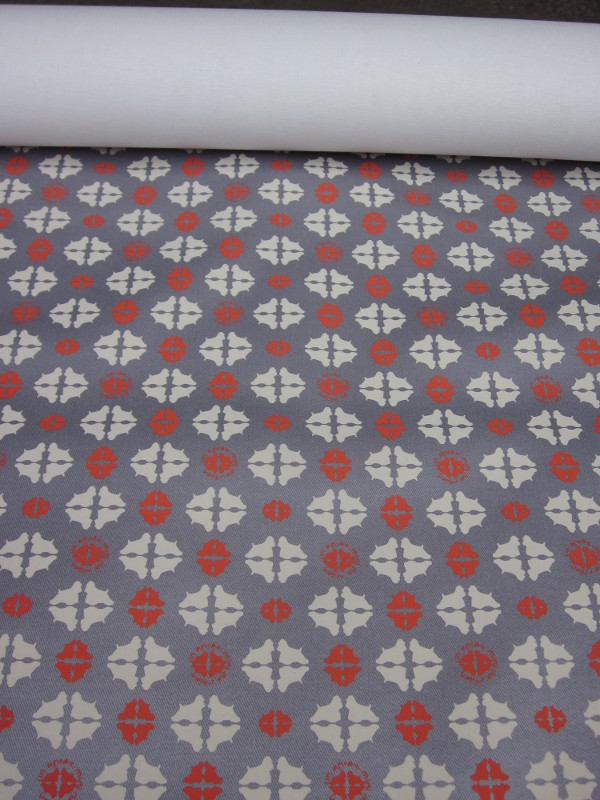 Tissu enduit motifs bi-couleur